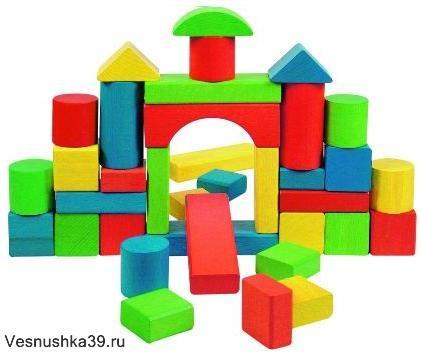 Кубики деревянные 48шт. XIN LEN арт. 8988-6