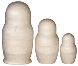 Раскрась матрешки деревянные 3в1