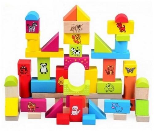 Кубики деревянные 68шт. в коробке GOOD KIDS