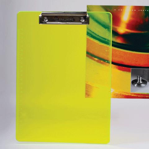 Планшет с верхним зажимом А4 пластиковый