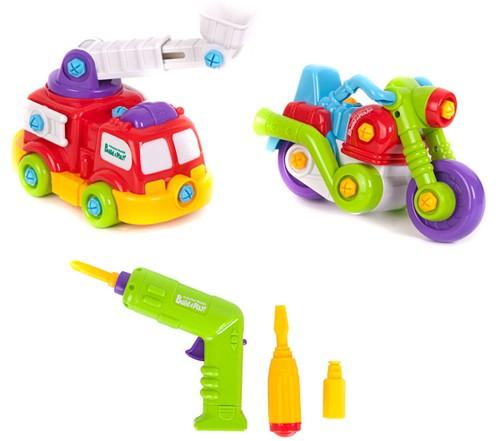 Конструктор для малышей собери, разбери с инструментами в ассортименте
