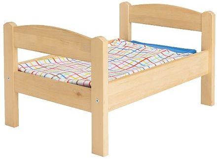 Кроватка для кукол деревянная с постельным бельем Польша