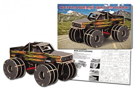Сборная модель деревянная 37х23см цветная в ассортименте