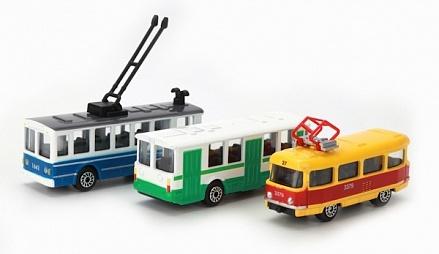 Машина набор городской транспорт 1:72 Техно парк ММММ