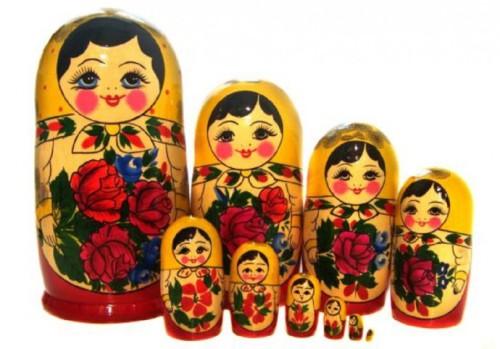 Матрешка традиционная 9 кукол 23см