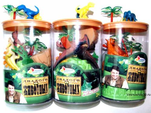"""Набор динозавры, дикие животные """"Играем вместе"""""""