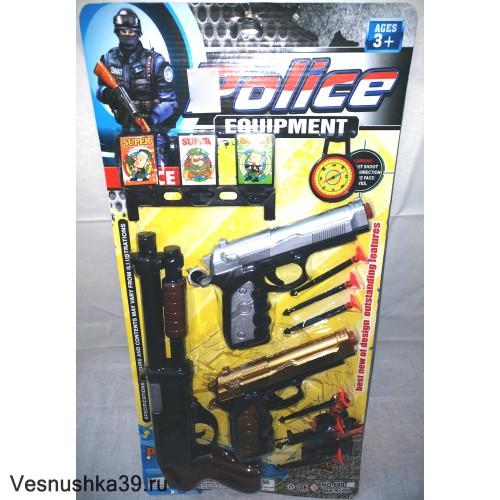 Набор оружия - 2 пистолета, обрез, присоски, мишень, компас.