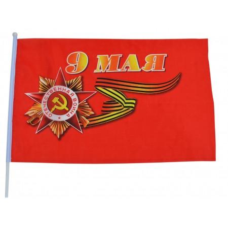 flag-9-maya-pobeda-plastik-30sm-1sht