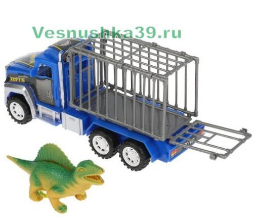 trejler-gruzovik-s-dinozavrami-v-kletke